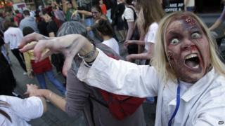 Zombie walk in Belgrade
