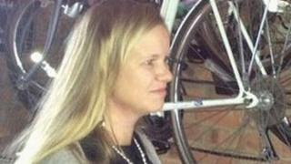 Chloe Sheppard in the storage building where her bike was stolen