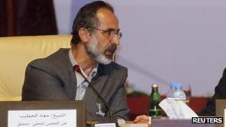 The head of the coalition, Ahmed Moaz al-Khatib