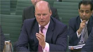 RBS chief executive Stephen Hester giving evidence to the Banking Standards Committee