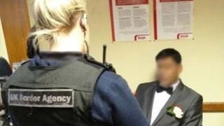UK Border Agency officer at registry office