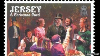 Christmas stamps from Jersey Post
