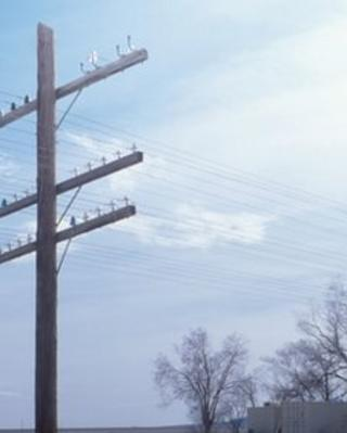 A utility pole in the US