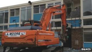 Demolition of shops