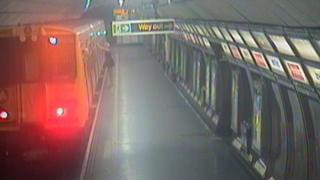 CCTV image showing Georgia on the platform