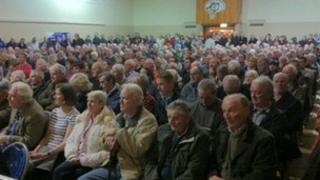 people attend national parks meeting in glens of antrim