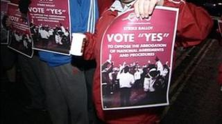 "CWU vote ""yes"" poster"