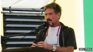 John McAfee speaking in Belize on 8 November 2012