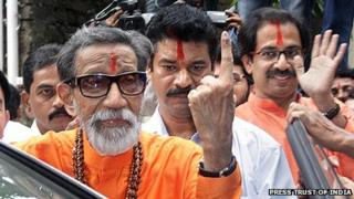 File picture of Bal Thackeray