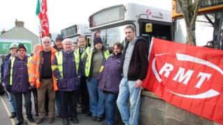 Picket at Camborne