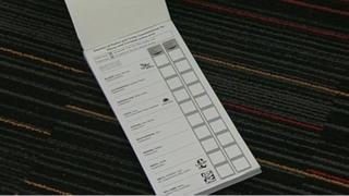 Devon and Cornwall PCC ballot paper