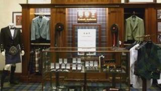 Kinloch Anderson display at Brooks Brother's Madison Avenue store