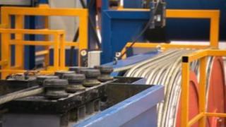 Steel rope making machine