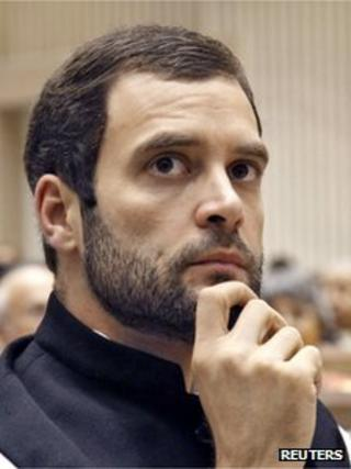"""Rahul Gandhi, a lawmaker and son of India""""s ruling Congress party chief Sonia Gandhi, attends the Nehru memorial lecture in New Delhi November 14, 2012"""