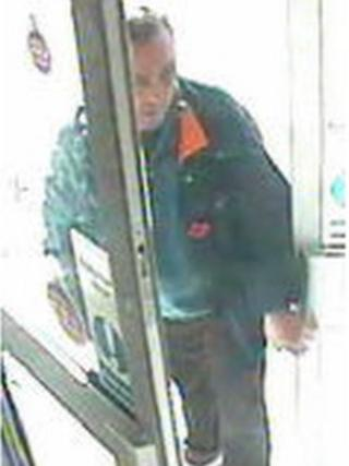 CCTV images of the man police are looking for