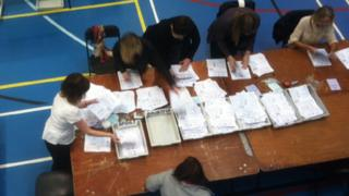 Votes being counted in North Wales