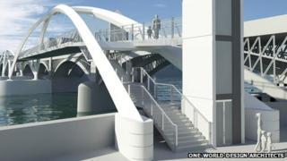 The proposed footbridge