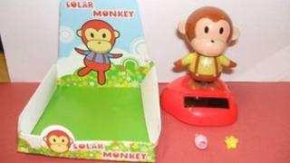 Solar-powered monkey