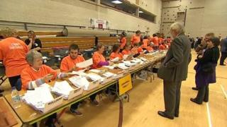 Devon and Cornwall police and crime commissioner election count