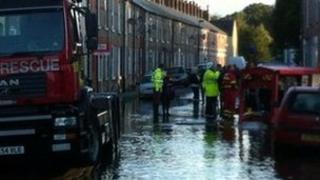 Leeman Road flooded