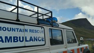 Mountain rescue ambulance