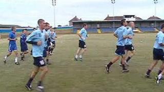 Training at Port Talbot Town