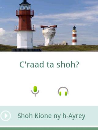 'Learn Manx' app screen