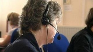 A worker at a call centre