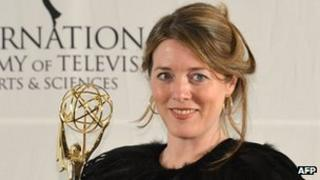 Black Mirror's executive producer Annabel Jones at the International Emmys in New York