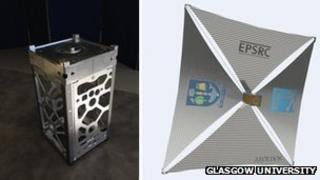 CubeSats and aerobrake