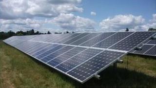 solar panels example