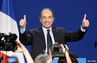 Jean-Francois Cope at a political rally in Paris, 16 November 2012