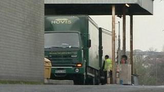 Hovis truck at Plymouth centre