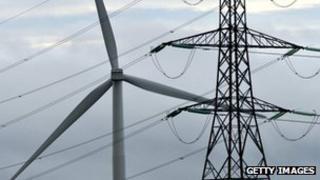 Pylon and wind turbine
