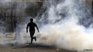 Protester in Cairo, 20 November 2012