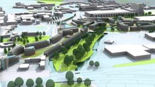 An artist's impression of St Peter's Way Development