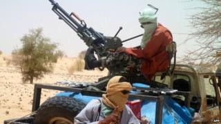 Islamist rebels in Mali - April 2012