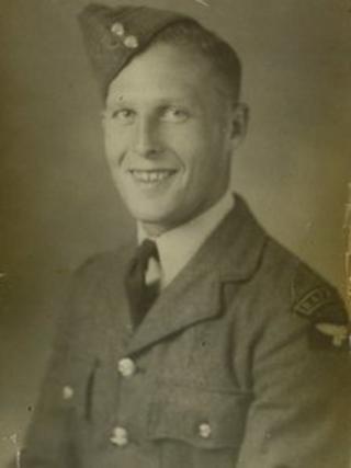 Soldier in photo found in garden