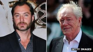 Jude Law and Sir Michael Gambon