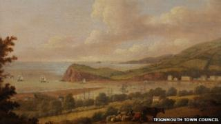 "Thomas Luny's ""A view to Shaldon from above Teignmouth"""