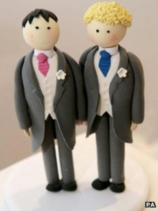 Same sex wedding cake topper