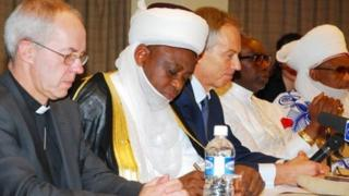 Bishop Justin Welby and other public figures in Abuja (22 November 2012)