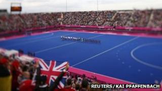 Olympic hockey pitch