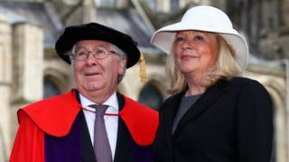Sir Mervyn King and his wife Barbara