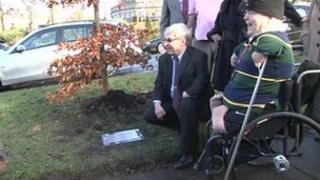 Thalidomide memorial unveiling
