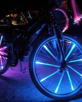 One of the bikes lit up