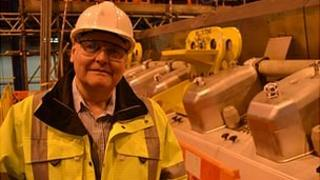 Guernsey Electricity's Tom Woodford with the £14m generator