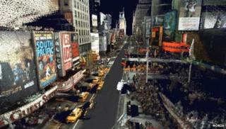 Nokia street graphic