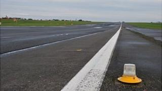 Guernsey Airport runway before the £80m refurbishment project began