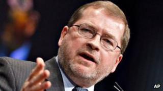 Grover Norquist, photographed 11 February 2012 in Washington